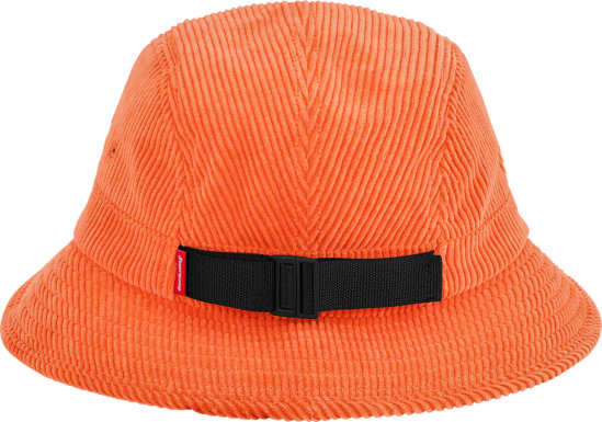 Supreme X Stone Island Orange Corduroy Crusher Hat