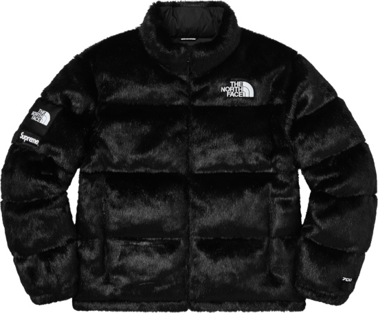 Supreme X The North Face Black Fur Puffer Jacket