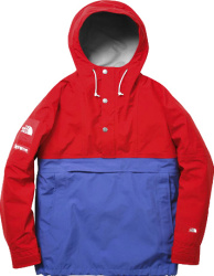 Supreme X The North Face Red And Blue Anorak Jacket