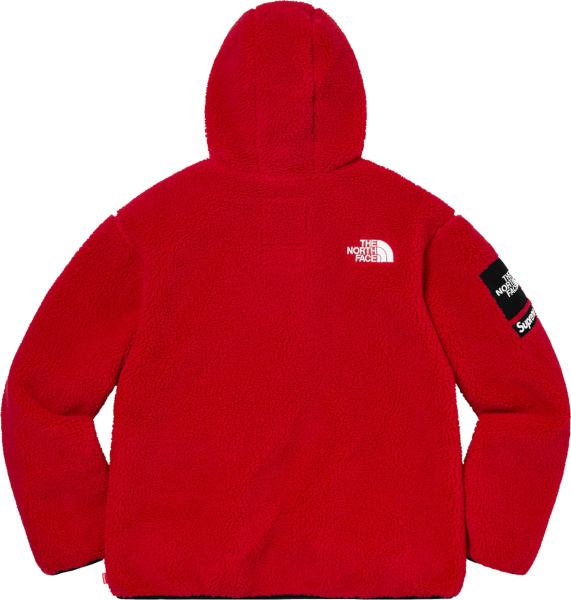 Supreme X The North Face Red Fleece S Logo Hooded Jacket