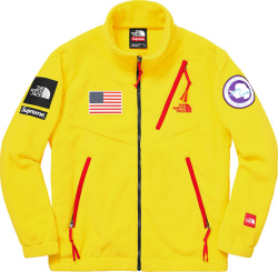 Supreme X The North Face Yellow And Red Trim Antartica Expedition Fleece Jacket