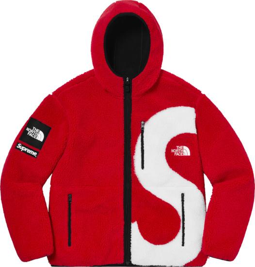 Supreme X Tnf Red Fleece Big S Logo Jacket