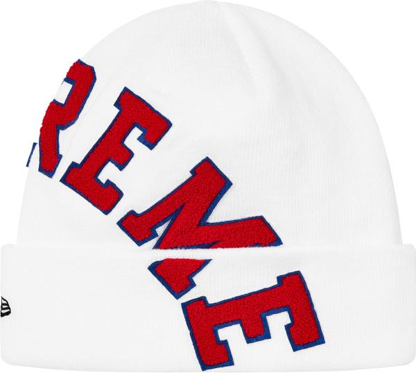 Supreme X Tnf White Big Arch Logo Beanie