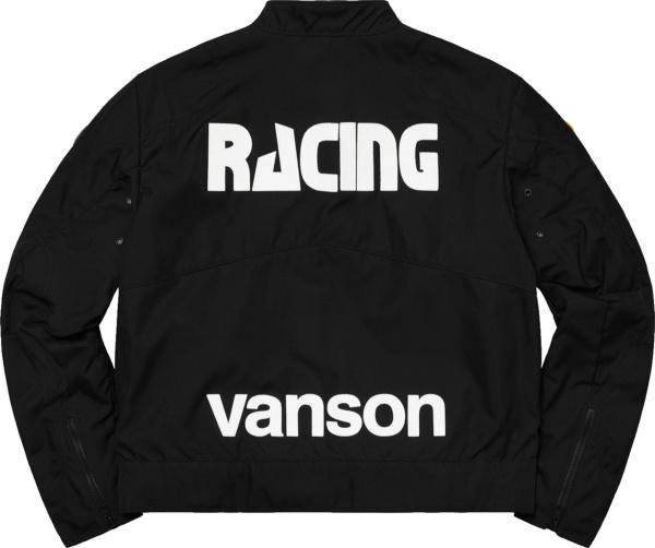Supreme X Vanson Black Racing Jacket