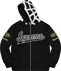 Supreme X Vanson Black Spider Web Zip Hoodie