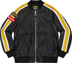 Supreme X Vanson Leather Black Perforated Bomber Jacket