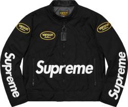 Supreme X Vanson Leathers Black Cordura Jacket