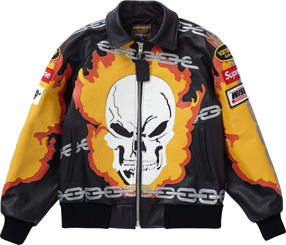 Supreme X Vanson Leathers Ghost Rider Leather Jacket
