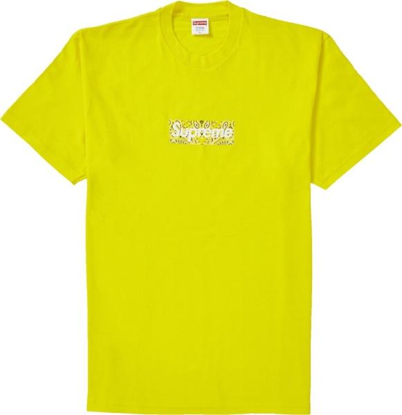 Supreme Yellow Bandana Box Logo Print T Shirt