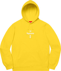 Supreme Yellow Cross Box Logo Hoodie