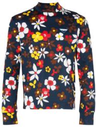 Swae Lee Navy Floral Print Prada Shirt