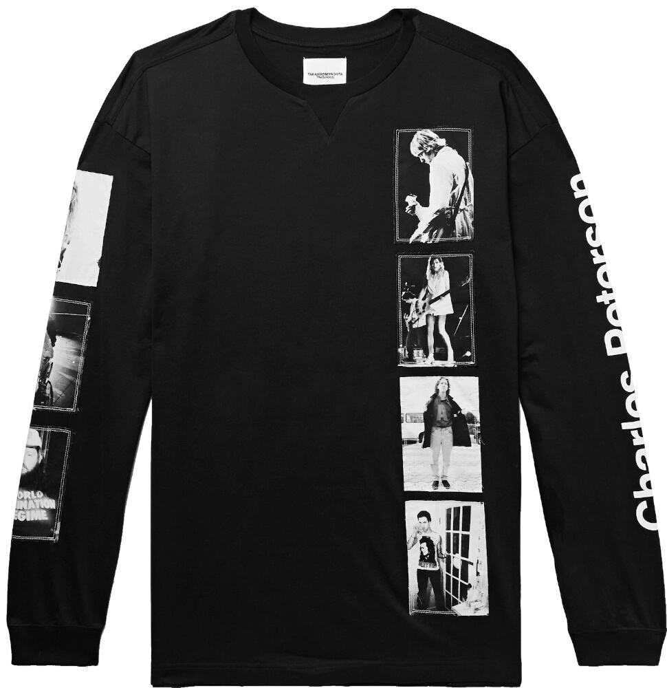 Takahiromiyashita Charles Peterson Long Sleeve Black Shirt