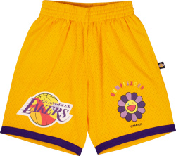 Takashi Murakami X Complexcon Yellow Los Angels Lakers Shorts