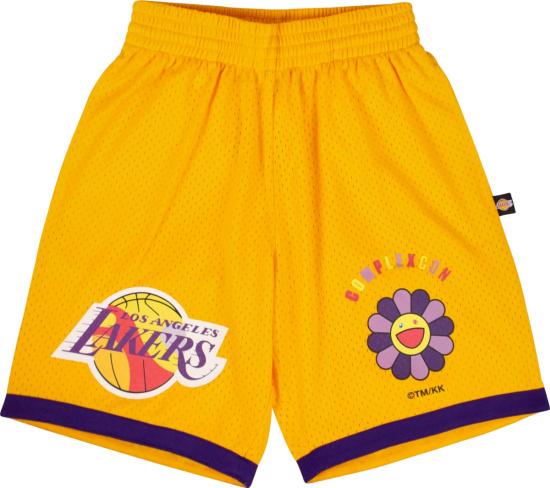 Takashi Murakami X Complexcon Yellow Los Angels Lakers Shorts