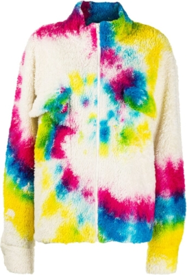 The Elder Statesman Tie Dye Sherpa Fleece Jacket