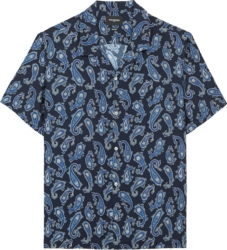 The Kooples Blue Paisley Print Shirt