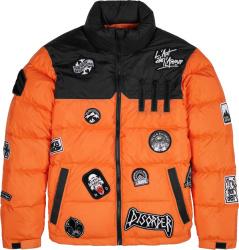 The New Designer Black And Orange Puffer Jacket