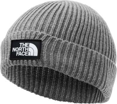 The North Face Box Logo Patch Grey Beanie