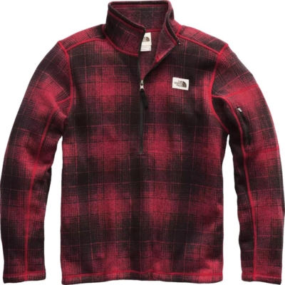 The North Face Red Check Gordon Lyons Quarter Zip