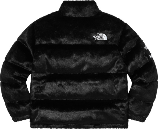 The North Face X Supreme Black Fur Nuptse Jacket