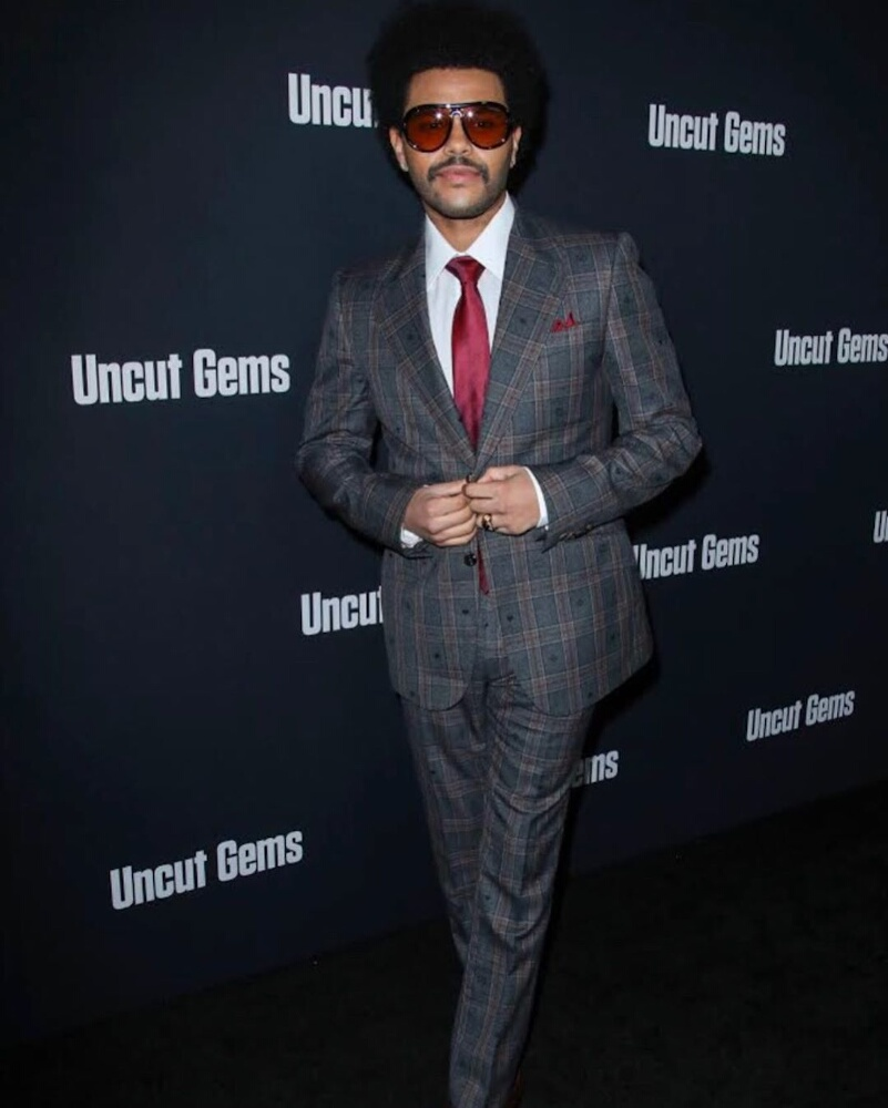 The Weeknd Attends The 'uncut Gems' Premiere In A Gucci Suit And Sunglasses