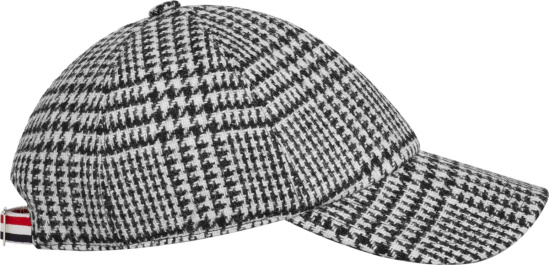Thom Browne Black White Houndstooth Check Hat