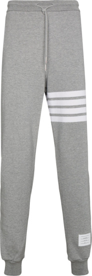 Thom Browne Grey 4 Bar Joggers