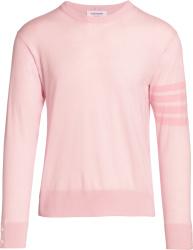 Thom Browne Light Pink 4 Bar Sweater