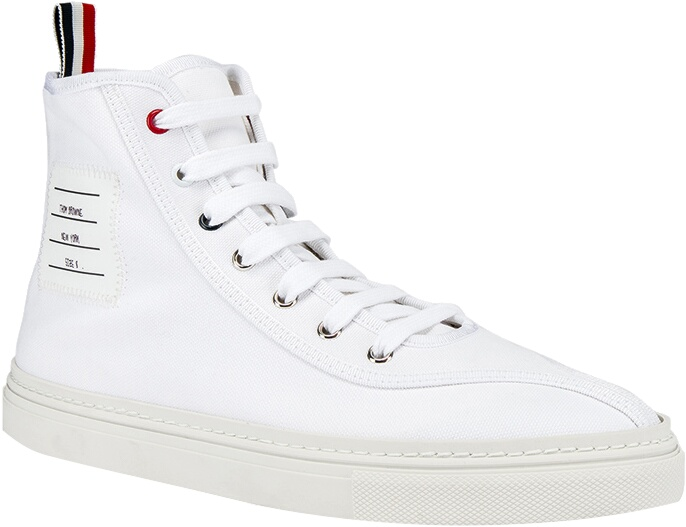 Thom Browne White High Top Sneakers