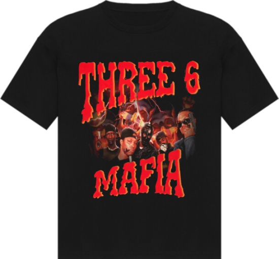Three 6 Mafia Black Yo Rep Merch T Shirt
