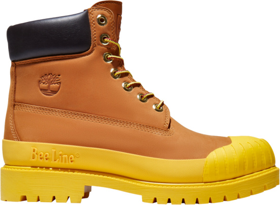 Timberland X Beeline Wheat And Yellow Sole Boots