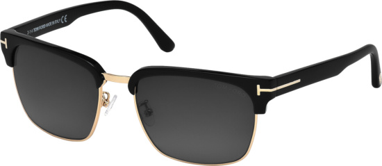 Tom Ford Black Gold River Sunglasses