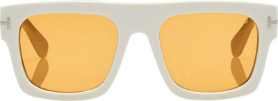 Tom Ford White Fausto Sunglasses