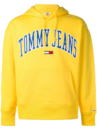 hot sales purchase original fashion design Tommy Hilfiger Logo Patch Yellow Hoodie | Incorporated Style