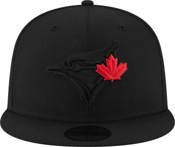 Toronto Blue Jays Black Hat With Red Maple Leaf