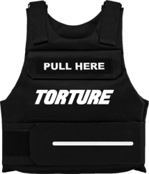Torture Files Black Torture Pull Here Vest