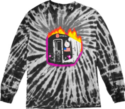 Travis Scott Astro World Tour Black And White Tie Dye T Shirt