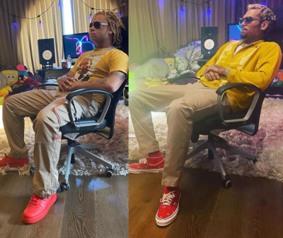 Trippie Redd Trolls Chris Brown In Heron Preston Pants Triple Red Af1s