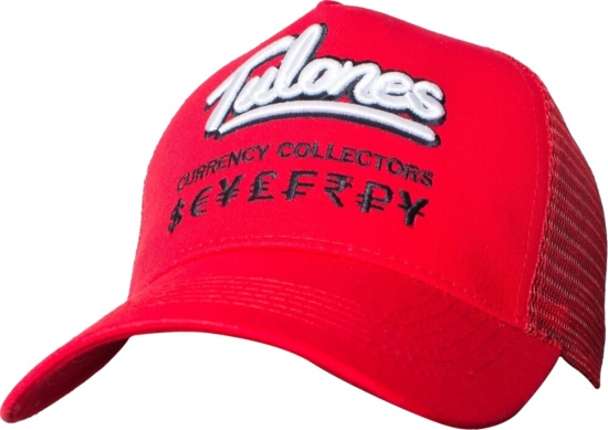 Tulones Red Currency Converter Trucker Hat