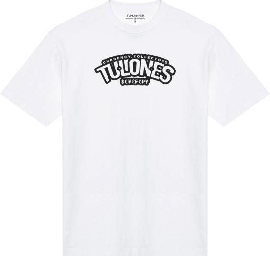 Tulones White Underline Logo Print T Shirt