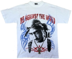 Tupac Vintage Me Against The World Printed T Shirt