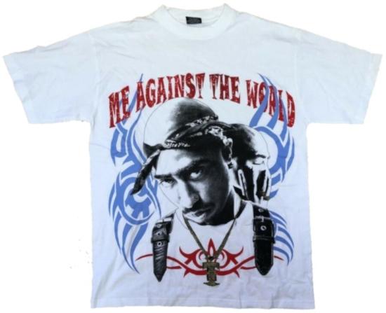 Vintage Tupac 'Me Against The World' White Shirt