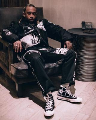 Ty Dolla Sign Wearing Black Takahiro Miyashita Shirt And Pants With Converse X Jw Anderson Sneakers