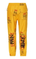 Allover Logo Printed Goretex Pants