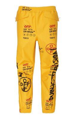 Tyga Off White Yellow Graffiti Pants