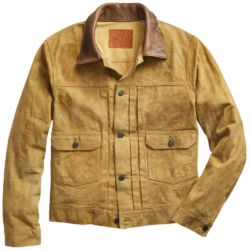Tyga Tan Jacket With Brown Leather Collar Worn In God Damn Music Video