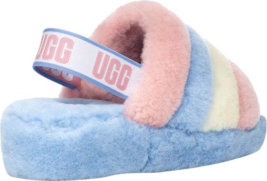 Ugg Light Blue Striped Slippers