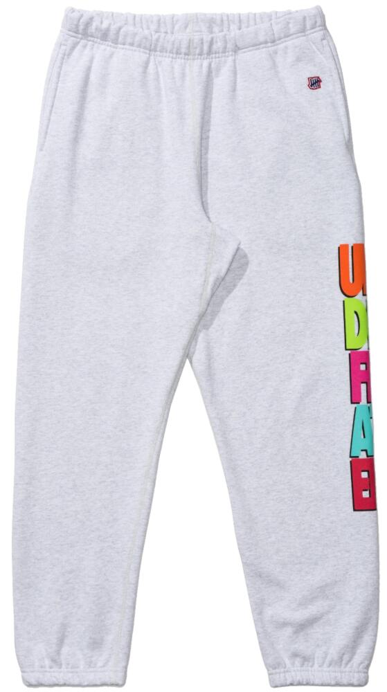 Undefeated Grey Sweatpants With Multicolor Logo Print