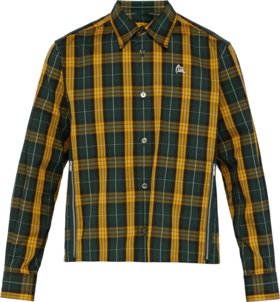 Undercover Green And Yellow Check Shirt