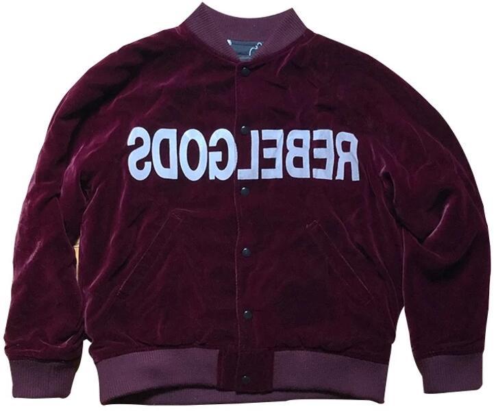 Undercover Maroon Rebel Gods Bomber Jacket